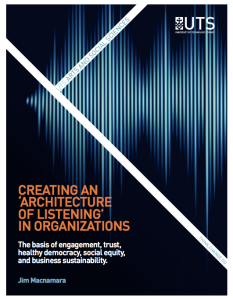 Creating an Architecture of Listening in Organisatiosn by Jim McNamara