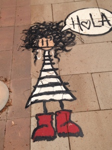 Sidewalk at Cambrils beach, Spain