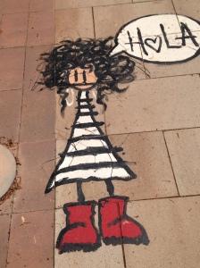 Sidewalk at Cambrils beach, Spain