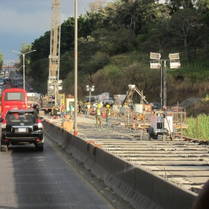 New bridge under construction, near San José, Costa Rica