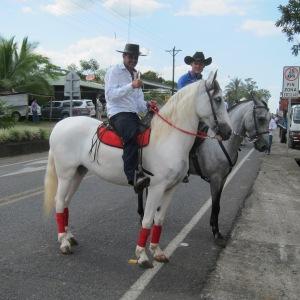 Costa Rican sabanero (cowboys) in Monterrey, Alajuelo province