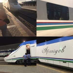 4 views of the bullet train