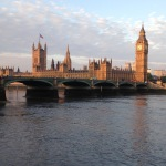 A picture of Westminster Bridge and the Houses of Parliament