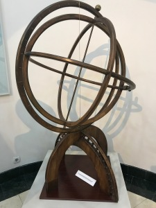 An astrolabe made out of wood