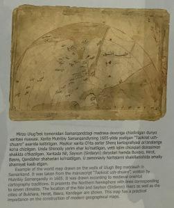 A hand drawn map shown as a semi circle